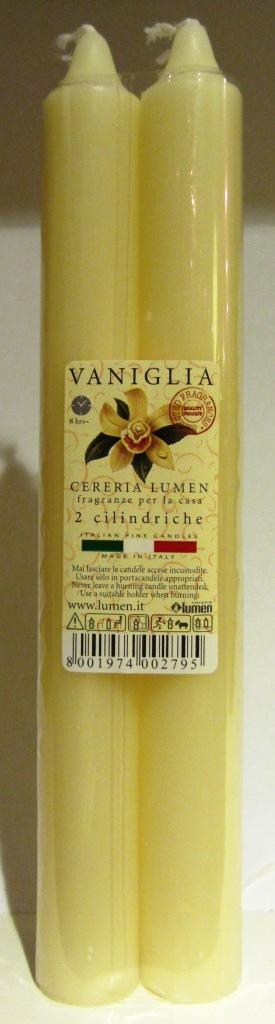 2 Candele Cilindriche fragranza Vaniglia - Lumen