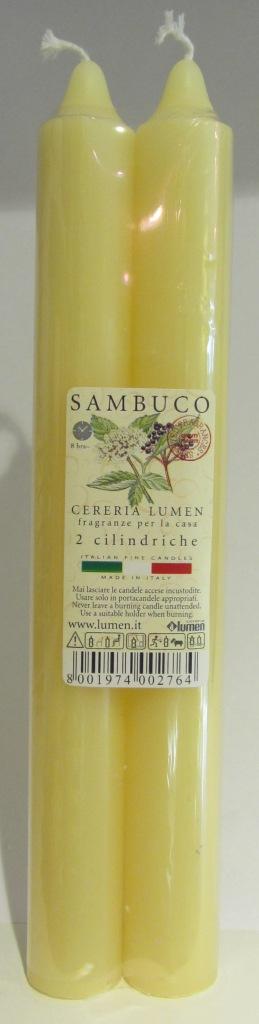 2 Candele Cilindriche fragranza Sambuco - Lumen
