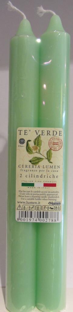 2 Candele Cilindriche fragranza Te Verde - Lumen