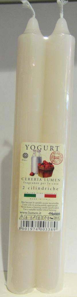 2 Candele Cilindriche fragranza Yogurt - Lumen