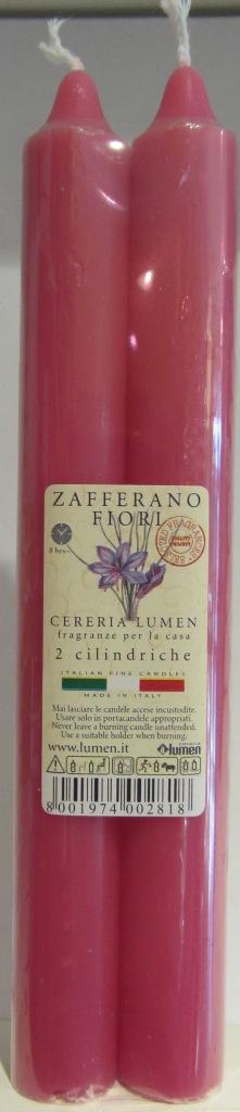 2 Candele Cilindriche fragranza Fiori Zafferano - Lumen