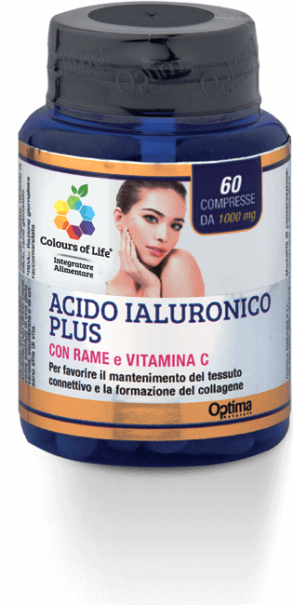Acido Jaluronico Plus Con Rame e Vitamina C Optima Naturals