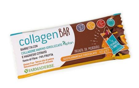 Collagen Bar Arancia Cioccolato Farmaderbe