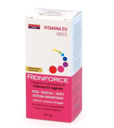Reinforce Vitamina D3 Gocce Vital Factors Italia