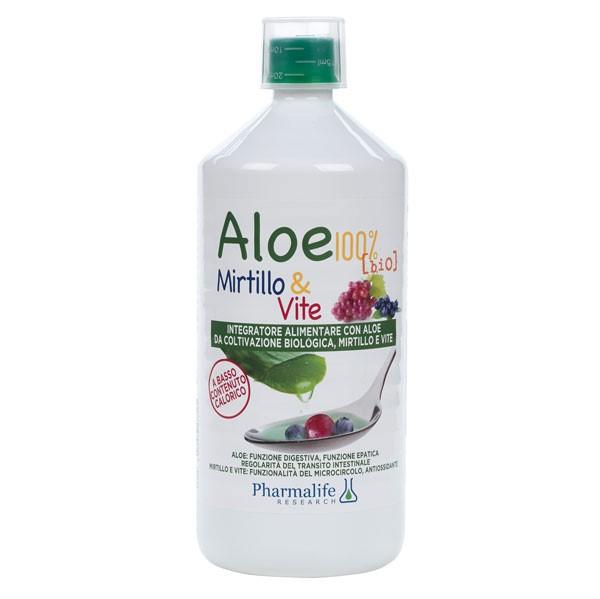 Aloe 100% Bio Mirtillo e Vite 1L Pharmalife