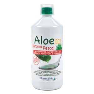 Aloe 100% bio aroma pesca Pharmalife