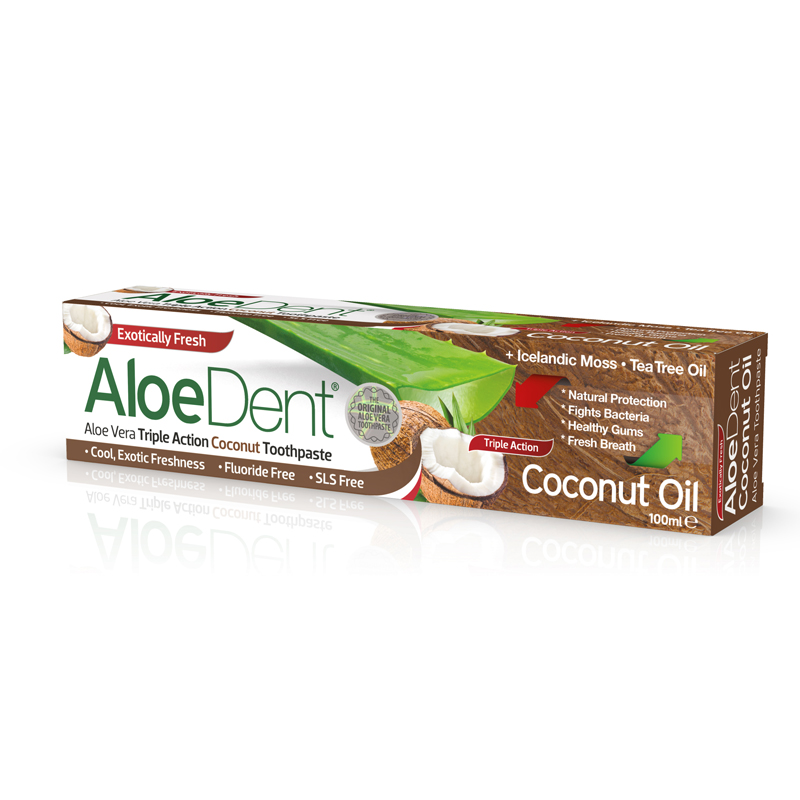 AloeDent Dentifricio All'Olio Di Cocco Optima Naturals