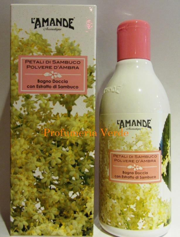 Bagno doccia petali di sambuco polvere d 39 ambra l 39 amande - Prodotti per il bagno ...