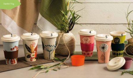 "Bamboo Mug ""Enjoy Fucsia"" Neavita"