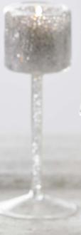 Porta Tealight Vetro Bicchiere Diamonds