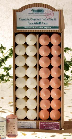 Candela vegetale cera di Soia OGM Free - Fiori di Cotone