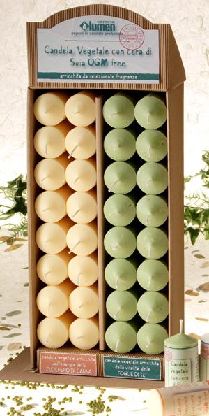 Candela vegetale cera di Soia OGM Free - Te Verde