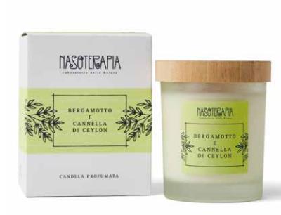 Candela Profumata Bergamotto e Cannella Nasoterapia