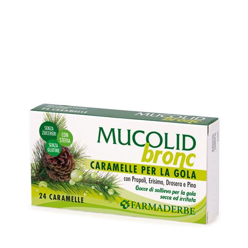 Mucolid Bronc Caramelle Per La Gola Farmaderbe
