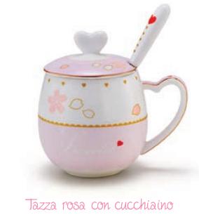 Tazza Rosa Con Cucchiaino Neavita