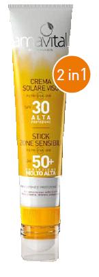 Crema solare viso SPF30 + Stick SPF50 zone sensibili  Oficine Cle