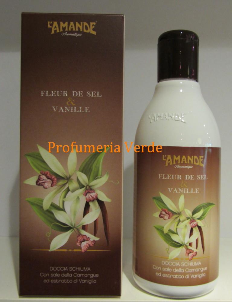 Doccia Schiuma Fleur de Sel & Vanille L'Amande