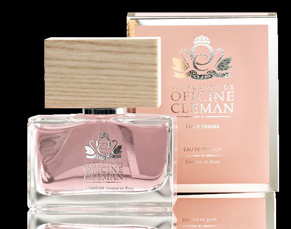 Eau de Parfum Femme en Rose Oficine Cleman