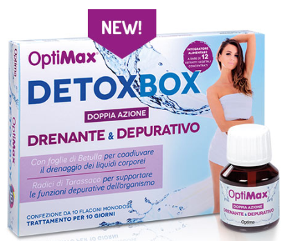 Optimax-Drenante e Depurativo Flaconcini Optima Naturals