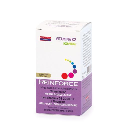 Reinforce Vitamina K2 e D3 Vital Factors Italia