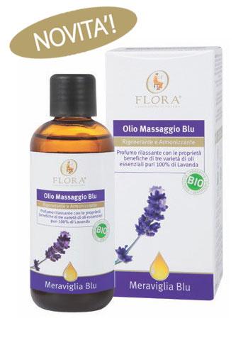 Olio da Massaggio Blu 100ml Flora Pisa