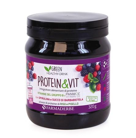 Protein & Vit Frutti di Bosco 320gr Farmaderbe