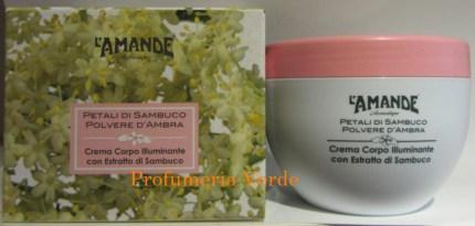 Crema Corpo Illuminante Petali di Sambuco & Polvere d'Ambra L'Am