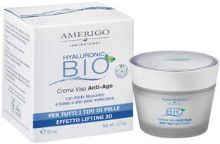Crema Viso Anti Age Acido Ialuronico Amerigo