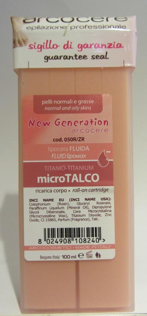 Roll Micro Talco Zinco Titanio Liposolubile corpo