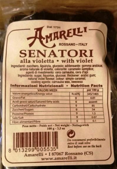 Senatori alla violetta Amarelli