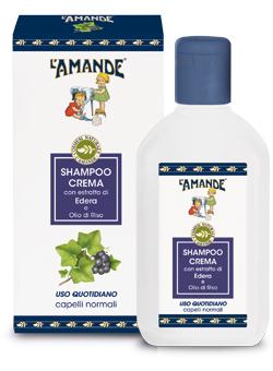 Shampoo Crema con estratto di Edera e Olio di Riso L