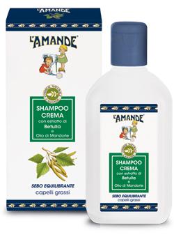 Shampoo Crema con estratto di Betulla e Olio di Mandorle L'Amand