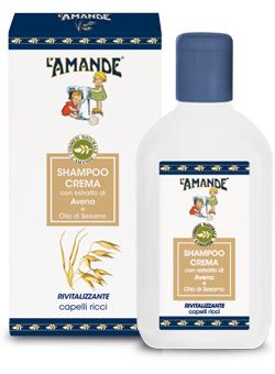 Shampoo Crema con estratto di Avena e Olio di Sesamo L