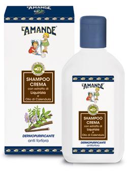 Shampoo Crema con estratto di Liquirizia e Olio di Calendula L'Amande