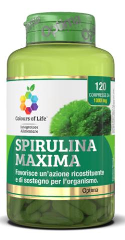 Spirulina Maxima 120 Compresse Optima Naturals
